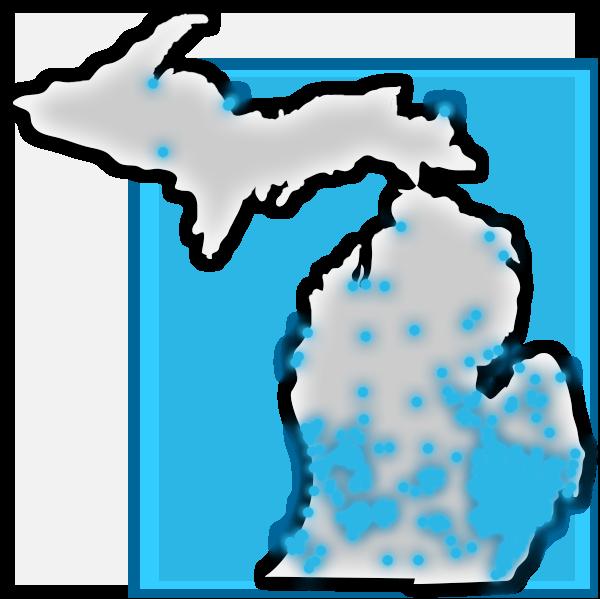 8 Mile Vodka Location Heat Map